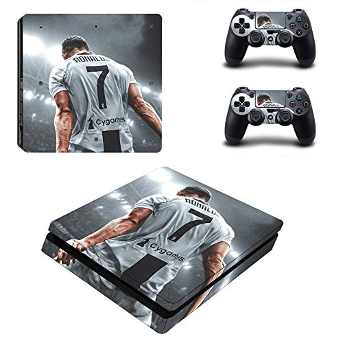 SJYMKYC CR7 E Messi PS4 Slim Skin per Playstation 4 Console E Controller Decal PS4 Slim Adesivo Vinyl