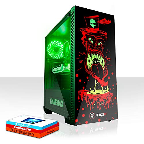 Fierce Brawler RGB Gaming PC - Schnell 3.6GHz Quad-Core Intel Core i3 8100, 480GB Solid State Drive, 16GB 2666MHz, NVIDIA GeForce GT 1030 2GB, Windows 10 installiert 1015290