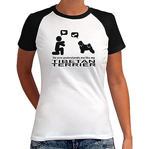 Maglietta Raglan da Donna NO ONE UNDERSTANDS ME LIKE MY Tibetan Terrier