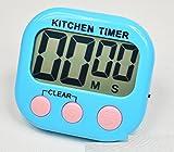 XJoel einfache LCD Digital Küche Timer Count Down Countdown Wecker für Kochen blau
