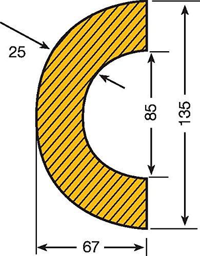 Praktische Panda 422.17.488.5422.17.488Traffic Line Auswirkungen Rohr Schutz, selbstklebend Fitting,, 85: für 70–100mm Rohre, Länge 1000mm, Gelb/Schwarz (5Stück)