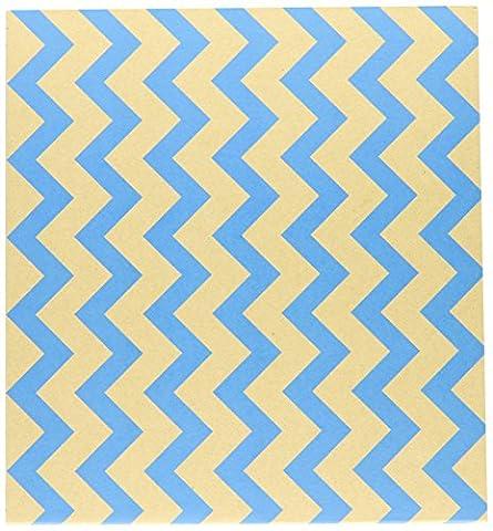 Colorbok 12 x 12 Inch Post Bound Album, Kraft Chevron Blue