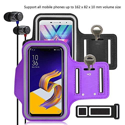pinlu® 2 Pack Fascia da Braccio per Vodafone Smart Mini 7, Wiko Birdy 4G,  Wiko Sunny, Wiko Kite, Wiko Goa, 5 5