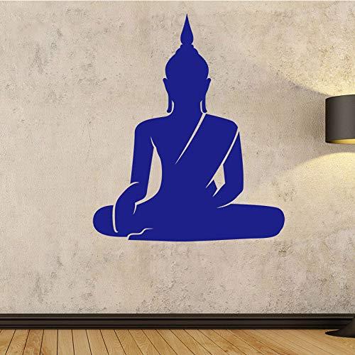 Adesivi murali Buddha seduto Adesivi murali staccabili Chakra Mandala Mandala Chakra Adesivi per meditazione Yoga decorativo da parete marrone M 30 cm X 35 cm