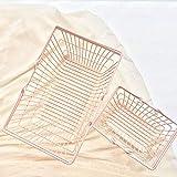WDOIT 1lron Rahmen Aufbewahrungskorb Metall Aufbewahrungskorb Shopping Aufbewahrungskorb Korb Eisen Draht Aufbewahrungskorb