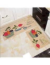 CHENGYI Alfombra La puerta Pasillo Alfombrillas de puerta Otomanas de cocina Baño Alfombra antideslizante Tapas largas Alfombras de baño para el hogar Alfombrillas de tierra ( Tamaño : 40*60cm )
