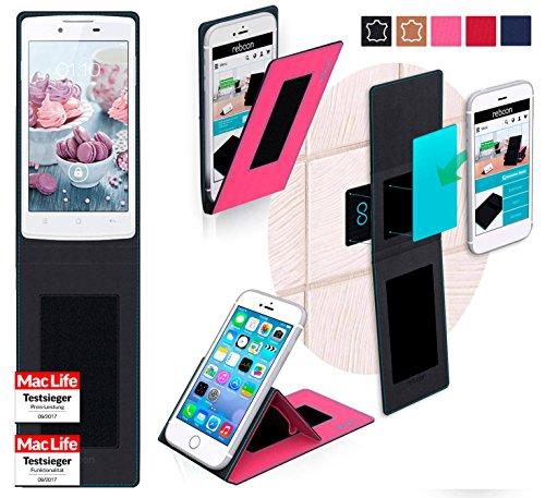reboon Oppo Neo Hülle Tasche Cover Case Bumper | Pink | Testsieger