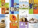 50 Glückwunschkarten zur Konfirmation Kelch Klappkarten mit 50 Umschlägen 8 Motive Grußkarten 11-2200