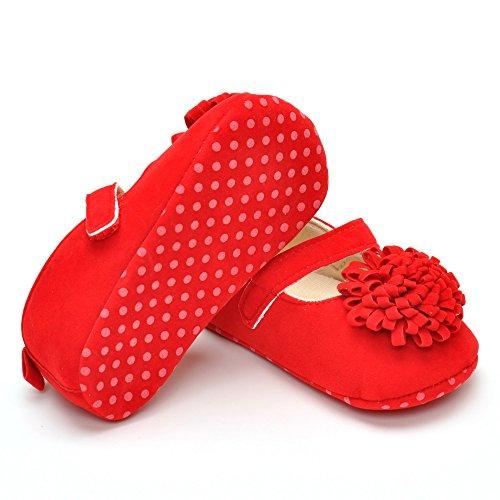 Baby Mädchen Mary Jane Chrysanthemum Schuhe Gelb 6-12 Monate Rote