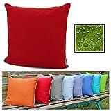 fashion and joy Outdoor Lounge Dekokissen Lotus Effekt 45x45 in rot wetterfest schmutz- und wasserabweisend Struktur Garten Kissen Loungekissen Typ551