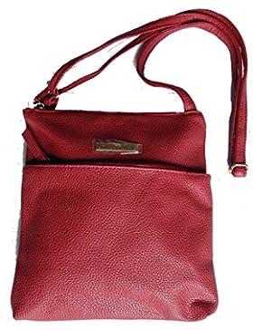 Damentasche Schultertasche Handtasche rot