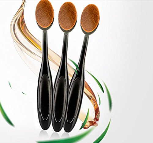 SHKY Brosse À Dents Design Fondation Brosse Maquillage Brosse Professionnel Doux Ovale BB Crème Couverture Rouge Maquillage Outil