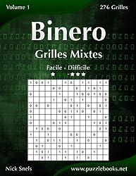 Binero Grilles Mixtes - Facile à Difficile - Volume 1-276 Grilles