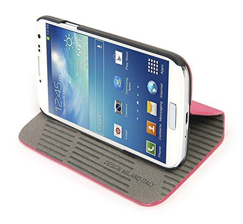 Tucano SG4MA-F Macro Booklet Hülle für Samsung Galaxy S4 rosa Pink