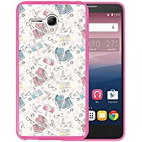 Funda Alcatel OneTouch Pop 3 5.5, WoowCase [ Alcatel OneTouch Pop 3 5.5 ] Funda Silicona Gel Flexible Zapatos Camara Gafas Estrellas, Carcasa Case TPU Silicona - Rosa