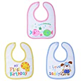 Tinny Tots Baby Bibs With Velcro - Pack ...