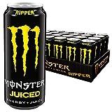 Monster Energy Flavour Ripper Juice Energy Drink mit 30% Fruchtsaft aus tropischen Früchten, Dosen-Palette, EINWEG (24 x 500ml)