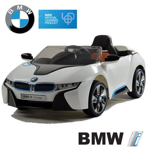 Preisvergleich Produktbild BMW i8 Concept Stromer Cabriolet Ride-On 12V Elektro Kinderauto Kinderfahrzeug Kinder Elektroauto (Weiss)
