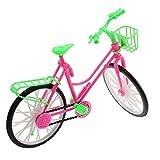 VANKER-Accesorios-De-Mueca-Brillante-Bicicleta-Rosa-Y-Verde-Bicicleta-Con-Cesta-Para-Barbie-Grande