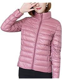 67560fc2722 Panegy - Chaqueta Ligero de Pluma para Mujer Invierno Otoño de Moda Casual Abrigo  Acolchado Plegable