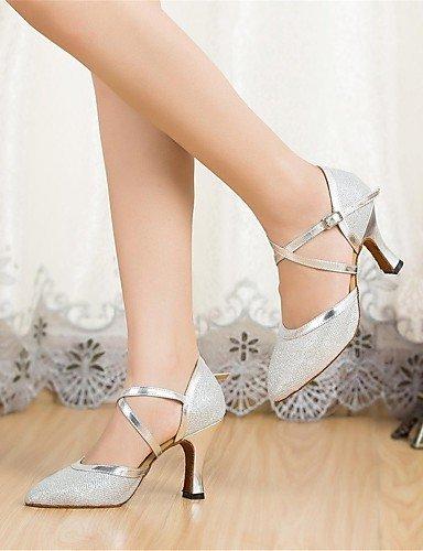 ShangYi Chaussures de danse (Noir/Argent/Or/Autre) - Non personnalisable - Gros talon - Paillettes scintillantes - Moderne Gold
