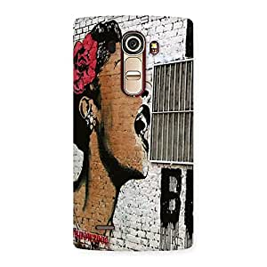 Premium Girl Singing Wall Back Case Cover for LG G4