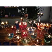 40 velas mágicas reutilizables que flotan en el agua y 100 mechas largas, transparentes, centro de mesa para boda