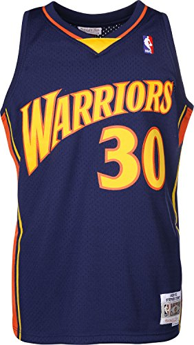 Mitchell & Ness Stephen Curry #30 Golden State Warriors 2009-10 Swingman NBA Trikot Navy, XXL (Nba Trikot Xxl)