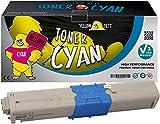 Yellow Yeti 44973535 (1500 Seiten) Cyan Premium Toner kompatibel für Oki C301 C301dn C321 C321dn MC332dn MC342dn MC342dnw MC342dw MC342w [3 Jahre Garantie]