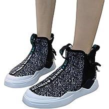 Calzado Deportivo para Mujer, Plano y liviano Cremallera Lateral Suave y liviano Zapatillas