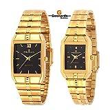 Geonardo's Aristocrat Golden Watch Combo For Men,Women,Boys & Girls-GDC001