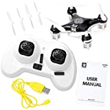 Haibei Cheerson CX-10A Drone Modo Headless 2,4G 4CH 6-Axis Gyro LED RC Quadcopter 360 Eversione (Nero CX-10A)