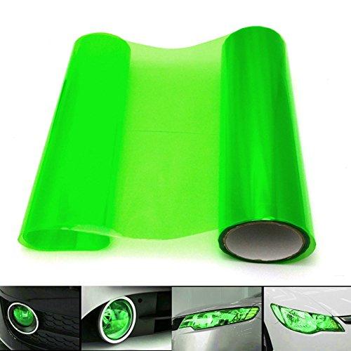 QEUhang 2 PCS Scheinwerfer Folie Tönungsfolie Aufkleber 120cm x 30cm für Auto Scheinwerfer Rückleuchten Blinker Nebelscheinwerfer (Grün)