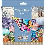Decopatch - 52500MD - Avenue Mandarine - Origami Paper Urban - 20 x 20 cm - 60 Feuilles - 70 g