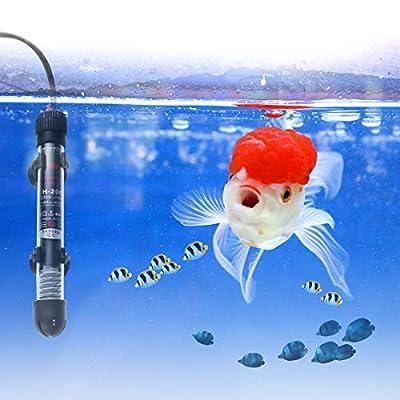 UEETEK Unterwasser Aquarium Heizung 50W mit Thermometer und Saugnapf,passt Aquarium Fischtanks (EU Stecker)