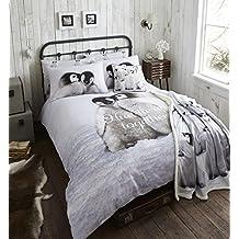 Catherine Lansfield. Funda nórdica Snuggly Penguins para cama de 90. MEDIDAS ESPAÑOLAS