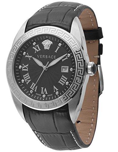 Versace Reloj Analógico para Hombre de Cuarzo con Correa en Cuero VFE120015