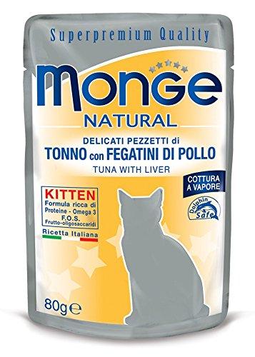 Monge Natural Kitten Tonno con Fegatini di Pollo 80 gr