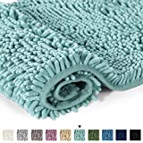 H.VERSAILTEX Soft Shaggy Non Slip Absorbent Bath Mat Chenille Bathroom Shower Rugs Shaggy Carpet - Duckshell, 50 x 80 CM