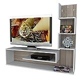 Alphamoebel TV Board Lowboard Fernsehtisch Fernsehschrank Sideboard, Fernseh Schrank Tisch für Wohnzimmer I Weiß Cordoba I Metehan 1711 I 149,5 x 29,5 x 120,8 cm