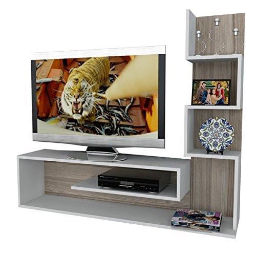 Alphamoebel TV Board Lowboard Fernsehtisch Fernsehschrank Sideboard,  Fernseh Schrank Tisch für Wohnzimmer I Weiß Cordoba I Metehan 1711 I 149,5  x ...