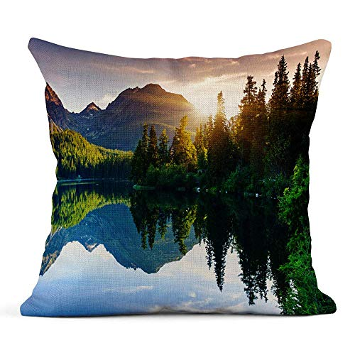odin sky Druck Blau NYC New York Brooklyn T-Shirt Grafiken Sport Street Kissenbezug einseitiges Design Zuhause Sofa Decor45x45 cm -
