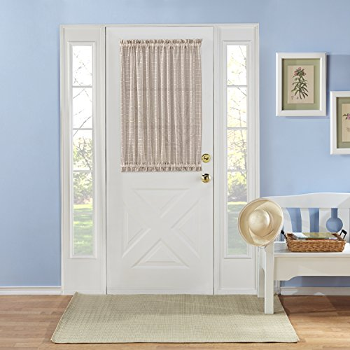 RENAISSANCE HOME FASHION MONTAUK Novelty Sheer Door Panel with Tieback, 53 X 40, Natural by Renaissance Home Fashion