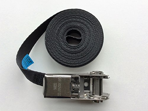 Stainless Steel Ratchet tie down strap Endless 25mm x 6m Test
