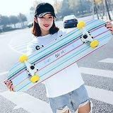 CXSM Erwachsene Roller Kinder Vier-Rad-Double-Warping Longboard Skateboard Männer und Frauen Professionelle Pinsel Street