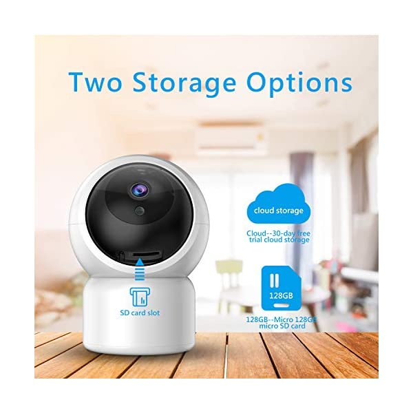 """Baby Camera 1080P IP Camera, JUMPER WLAN Security Camera Pan/Tilt ONVIF IP Cam P2P Network Camera Baby Monitor 2 Way Audio IR-Cut Night Vision Motion Detection Jumper 【 JUMPER 1080P WIFI Baby Cam 】 -- Built-in WiFi module, supports 802.11b / g (supports only 2.4G, no 5G WIFI). Standard H.264 video compression. Network settings through the APP """"YCC365 Plus"""", supports iOS and Android Smartphone/Tablet PC. 【 2,0 Megapixel CMOS Sensor & Intelligent Tracking】 -- Pan:355°/ Tilt:120° , ; Maximum image resolution up to 1080P. This IP camera can recognize people and follow their movement to keep monitor . 【 2 Way Audio & Alarm detection】 --The baby monitor supports 2 way audio (built-in mic & speaker) and micro SD card up to 128G (card is not included). The WiFi IP Camera supports motion detection alarm, push notification alarm, whistle alarm. 5"""