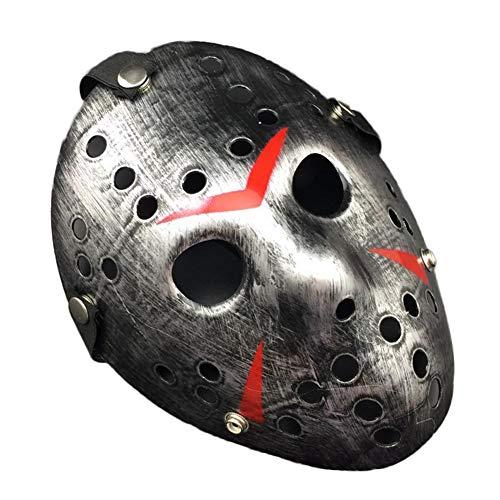 Weiyi0765 Jason Voorhees Halloweenmaske für Erwachsene, Halloween, Cosplay, Gruselig, Gruselig ()
