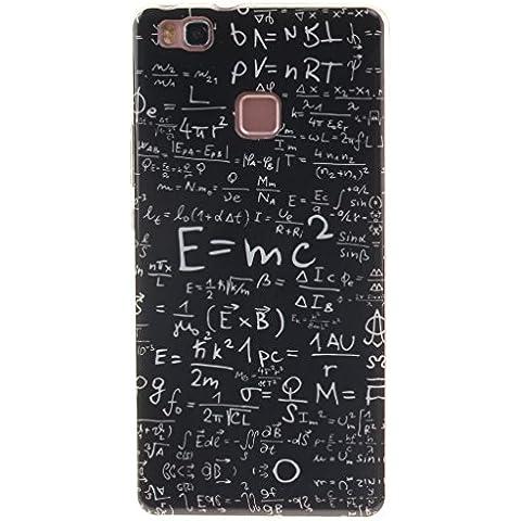 Case Cover For Huawei P9 Lite,Remidy equazione matematica Soft TPU Silicone trasparente cornice [Cristallo Paraurti] [Anti-Scratch] Protective Custodia Caso Per Huawei P9 Lite