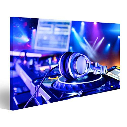 islandburner Bild Bilder auf Leinwand DJ-Mixer mit Kopfhörern im Nachtclub Wandbild, Poster, Leinwandbild GRL (Dj-mixer Kopfhörer)