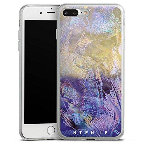 Apple iPhone 8 Plus Slim Case Silikon Hülle Schutzhülle HIEN LE Goldfisch Design Silikon Slim Case transparent